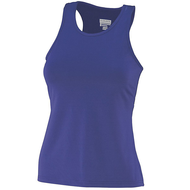 Girls Poly/Spandex Solid Racerback Tank