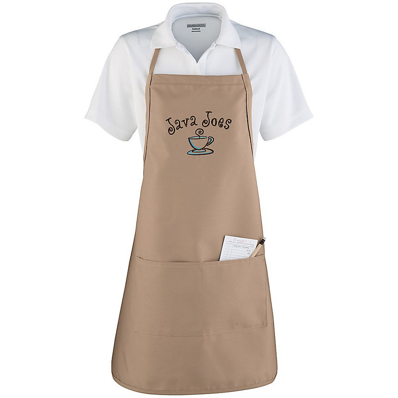 APRON WITH ADJUSTABLE NECK AND WAIST TIES